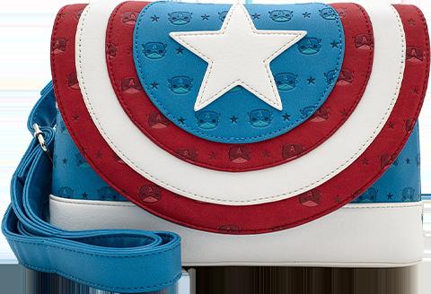 Loungefly Captain America Shield Crossbody Apparel