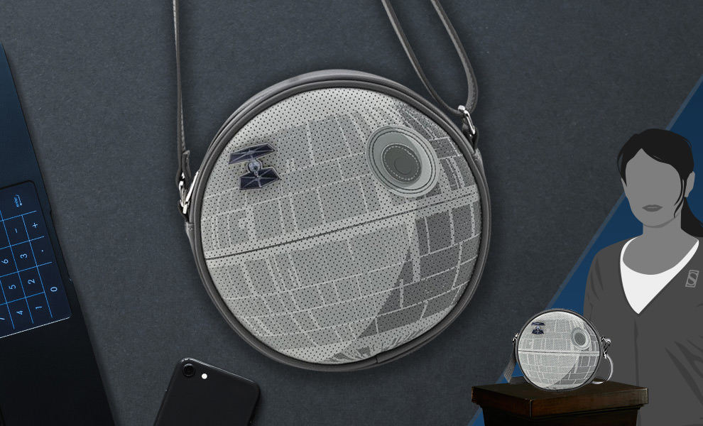 Gallery Feature Image of Death Star Pin Collector Crossbody Apparel - Click to open image gallery