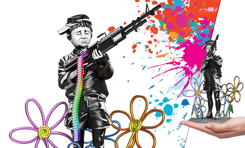Gallery Feature Image of Crayon Shooter Polystone Statue - Click to open image gallery