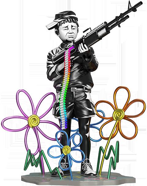 Mighty Jaxx Crayon Shooter Polystone Statue