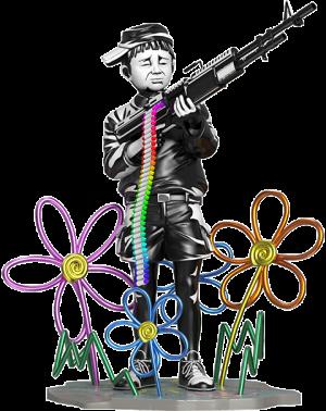 Crayon Shooter Polystone Statue