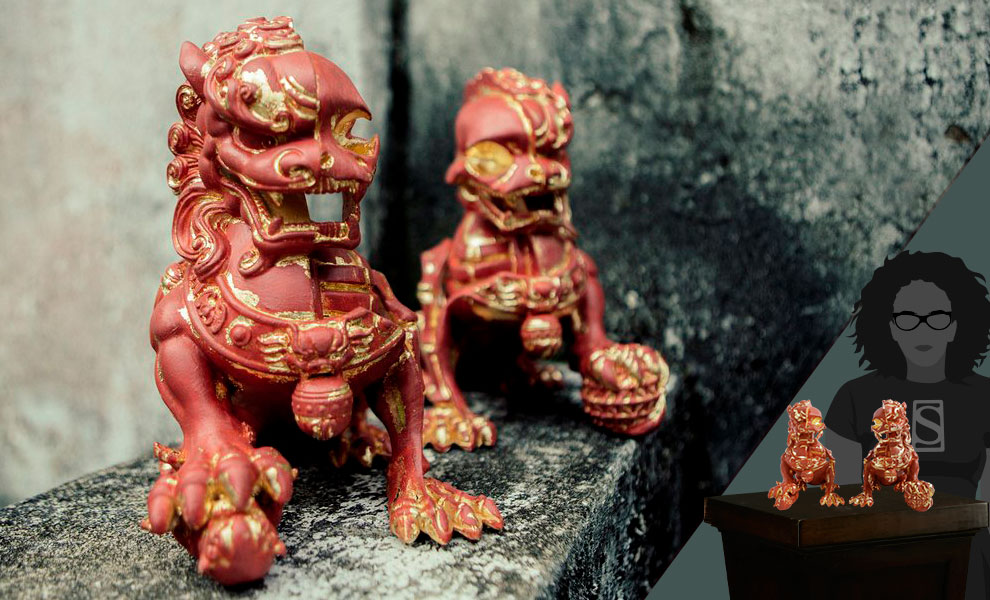 Gallery Feature Image of XXRAY+ Foo Dogs (Terracotta) Collectible Set - Click to open image gallery