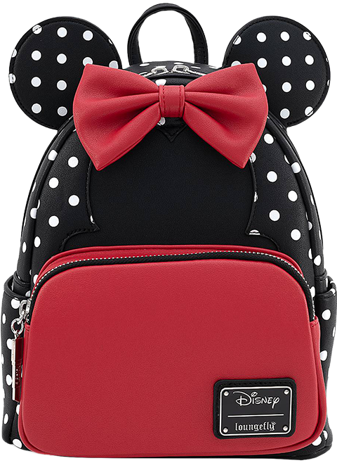 Loungefly Minnie Mouse Black & White Polka Dot Mini Backpack Apparel