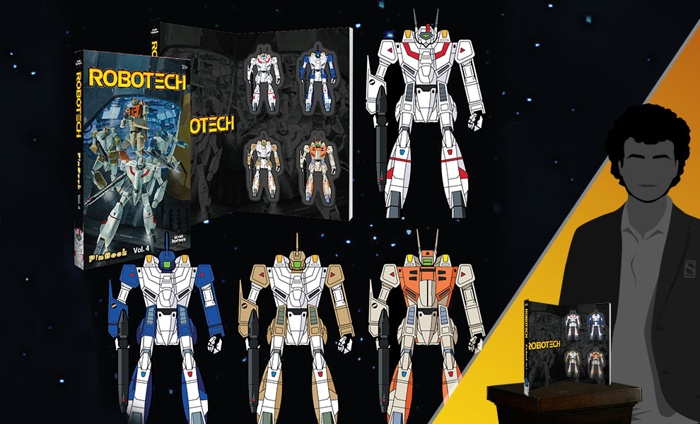 Gallery Feature Image of Robotech Vol. 4 Pinbook Collectible Pin - Click to open image gallery