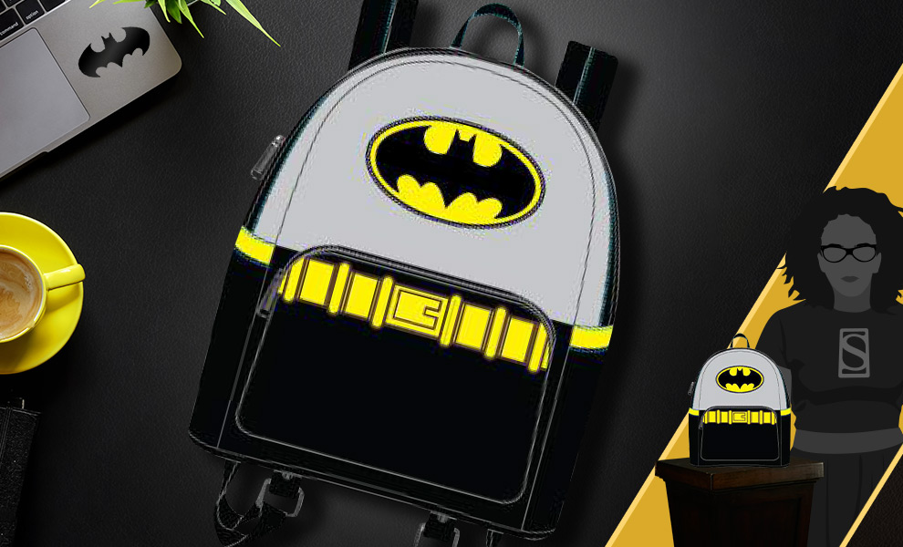 Gallery Feature Image of Vintage Batman Cosplay Mini Backpack Apparel - Click to open image gallery