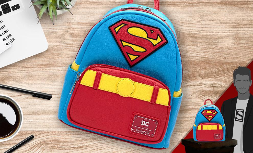 Gallery Feature Image of Vintage Superman Cosplay Mini Backpack Apparel - Click to open image gallery