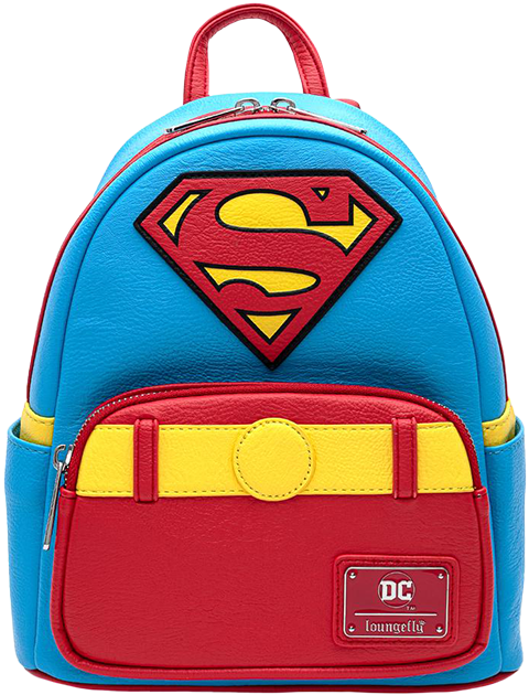 Loungefly Vintage Superman Cosplay Mini Backpack Apparel