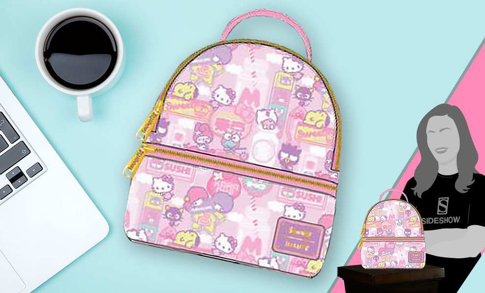 Gallery Feature Image of Hello Kitty Kawaii Convertible Mini Backpack Apparel - Click to open image gallery