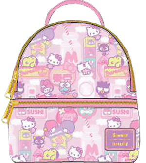 Hello Kitty Kawaii Convertible Mini Backpack Apparel