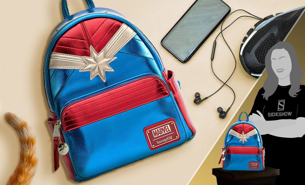 Gallery Feature Image of Captain Marvel Classic Mini Backpack Apparel - Click to open image gallery