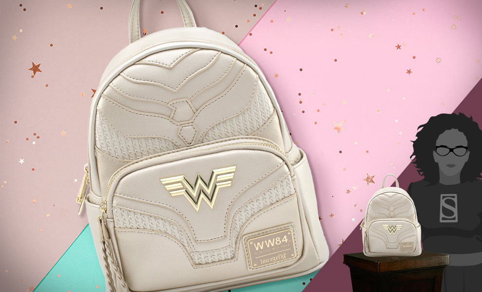 Gallery Feature Image of Wonder Woman 1984 Gold Mini Backpack Apparel - Click to open image gallery