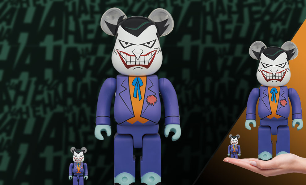 Gallery Feature Image of Be@rbrick Joker (Batman the Animated Series Version) 100% and 400% Collectible Set - Click to open image gallery