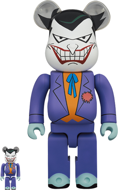 Medicom Toy Be@rbrick Joker (Batman the Animated Series Version) 100% and 400% Collectible Set