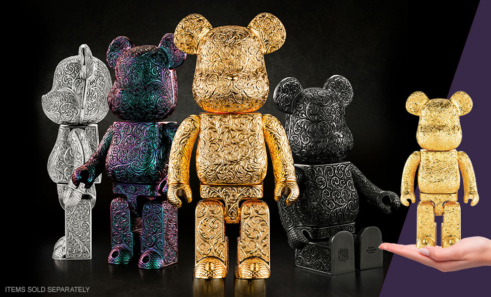 Gallery Feature Image of Be@rbrick Royal Selangor Arabesque Golden 400% Collectible Figure - Click to open image gallery