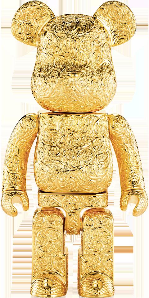 Medicom Toy Be@rbrick Royal Selangor Arabesque Golden 400% Collectible Figure