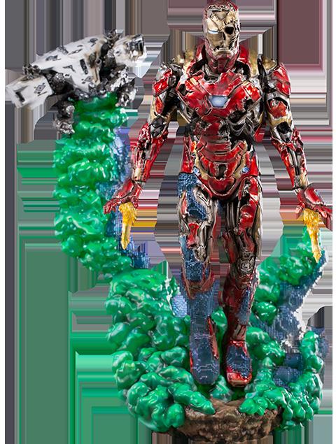 Iron Studios Iron Man Illusion Deluxe Statue