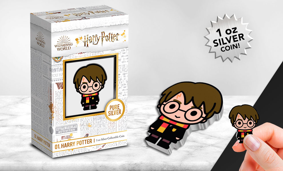 Gallery Feature Image of Harry Potter 1oz Silver Coin Silver Collectible - Click to open image gallery