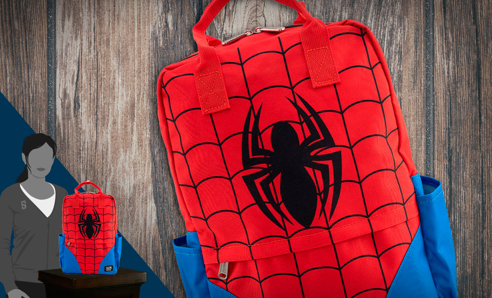 Gallery Feature Image of Spider-Man Cosplay Backpack Apparel - Click to open image gallery