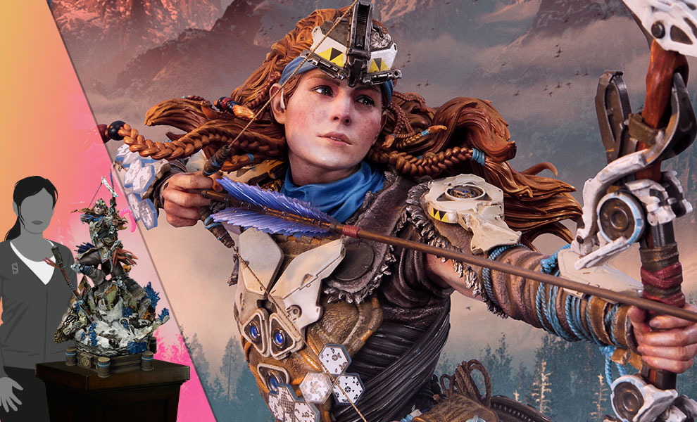 Gallery Feature Image of Aloy Shield Weaver Armor Set Statue - Click to open image gallery