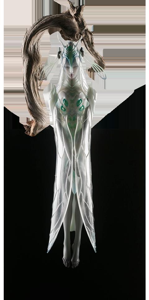 Manas SUM White Cicada Statue