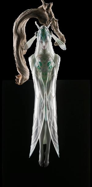 White Cicada Statue