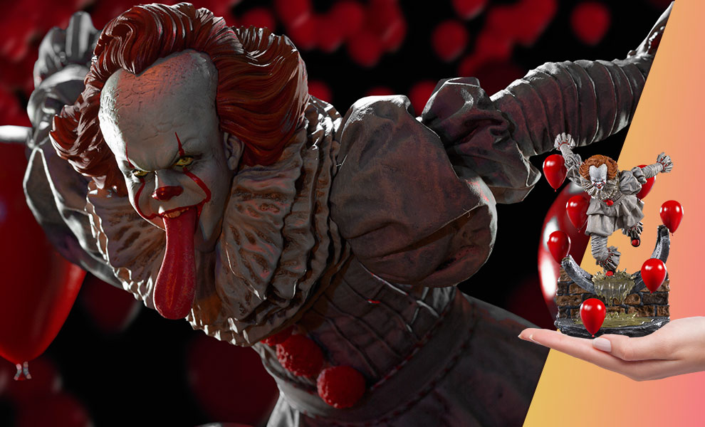 Gallery Feature Image of Pennywise Deluxe 1:10 Scale Statue - Click to open image gallery