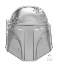 Gallery Image of Boba Fett™ Helmet Silver Coin Silver Collectible