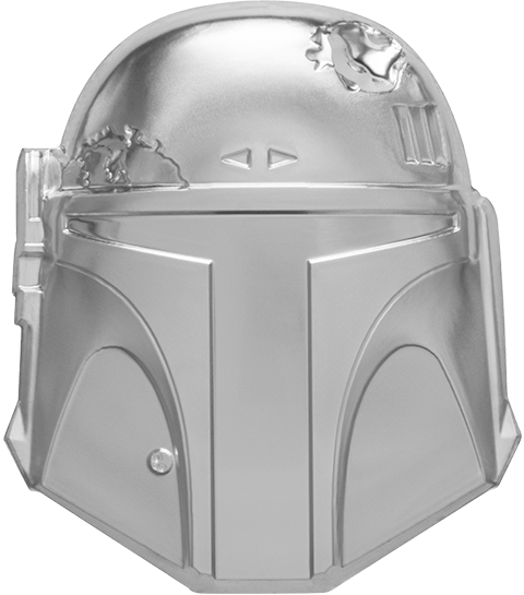 New Zealand Mint Boba Fett™ Helmet Silver Coin Silver Collectible