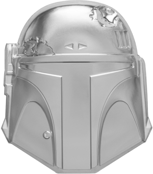 Boba Fett™ Helmet Silver Coin Silver Collectible