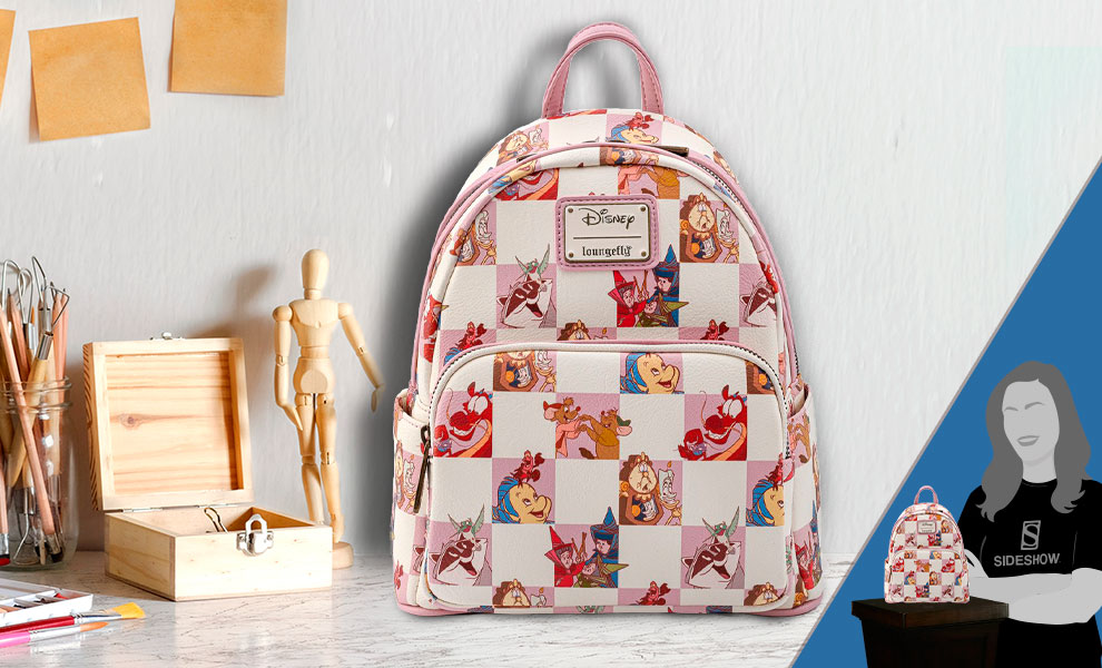 Gallery Feature Image of Disney BFF Character Rose Checker Mini Backpack Apparel - Click to open image gallery