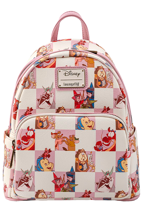 Loungefly Disney BFF Character Rose Checker Mini Backpack Apparel
