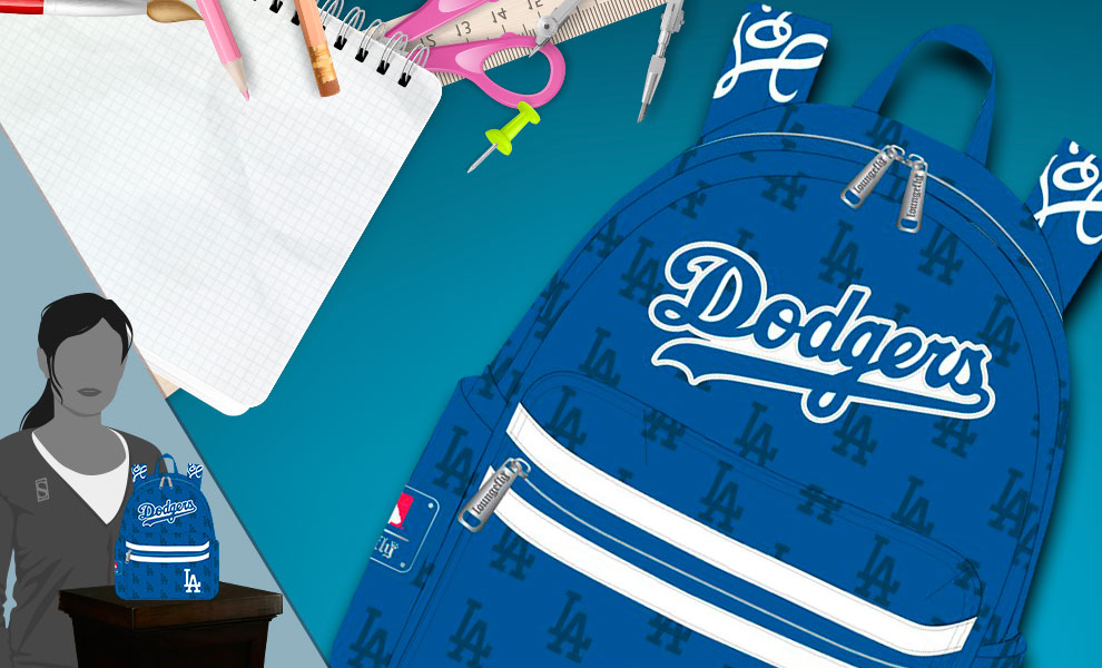 Gallery Feature Image of Dodgers Blue AOP Mini Backpack Apparel - Click to open image gallery