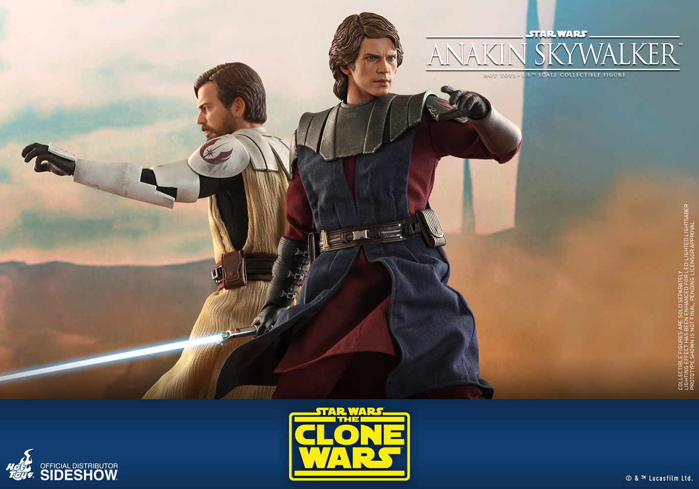 Sci-Fi - NEW PRODUCT: HOT TOYS: STAR WARS: THE CLONE WARS ANAKIN SKYWALKER AND STAP 1/6TH SCALE COLLECTIBLE SET Anakin-skywalker_star-wars_gallery_5f19fc15b9c8d
