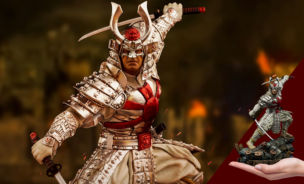 Gallery Feature Image of Silver Samurai 1:10 Scale Statue - Click to open image gallery