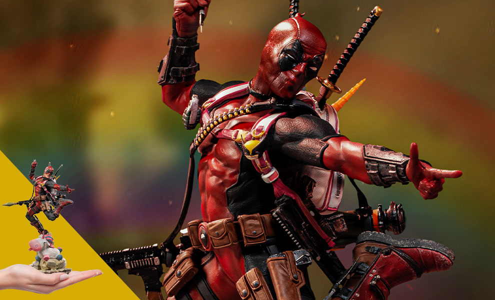 Gallery Feature Image of Deadpool Deluxe 1:10 Scale Statue - Click to open image gallery