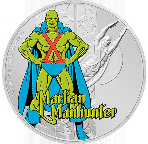New Zealand Mint Martian Manhunter 1oz Silver Coin Silver Collectible