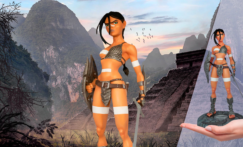 Gallery Feature Image of Nävis the Fearless Warrior Statue - Click to open image gallery