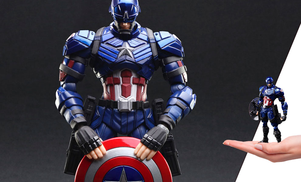 Gallery Feature Image of Captain America Action Figure - Click to open image gallery