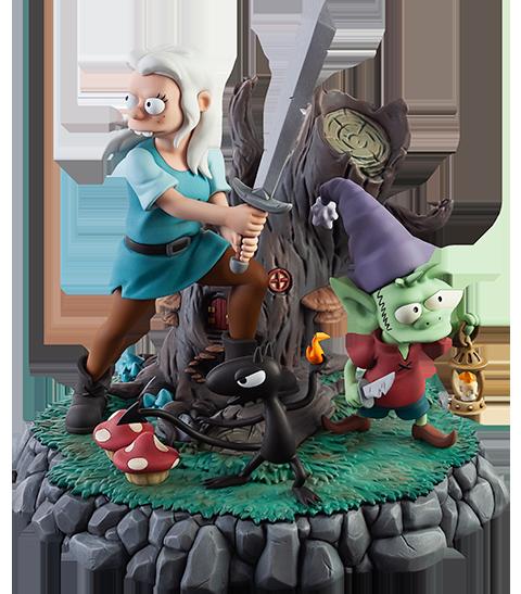 Level52 Studios The Princess, The Elf, and The Demon Polystone Statue