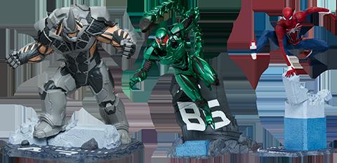 PCS Spider-Man/Rhino/Scorpion Collectible Set