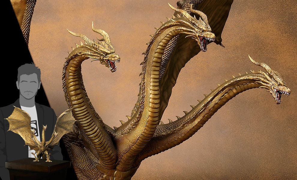 Gallery Feature Image of King Ghidorah (2019) Statue - Click to open image gallery