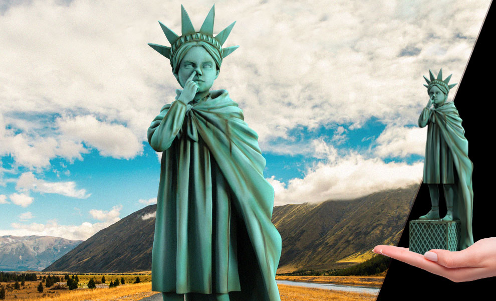 Gallery Feature Image of Liberty Girl (Freedom Edition) Polystone Statue - Click to open image gallery