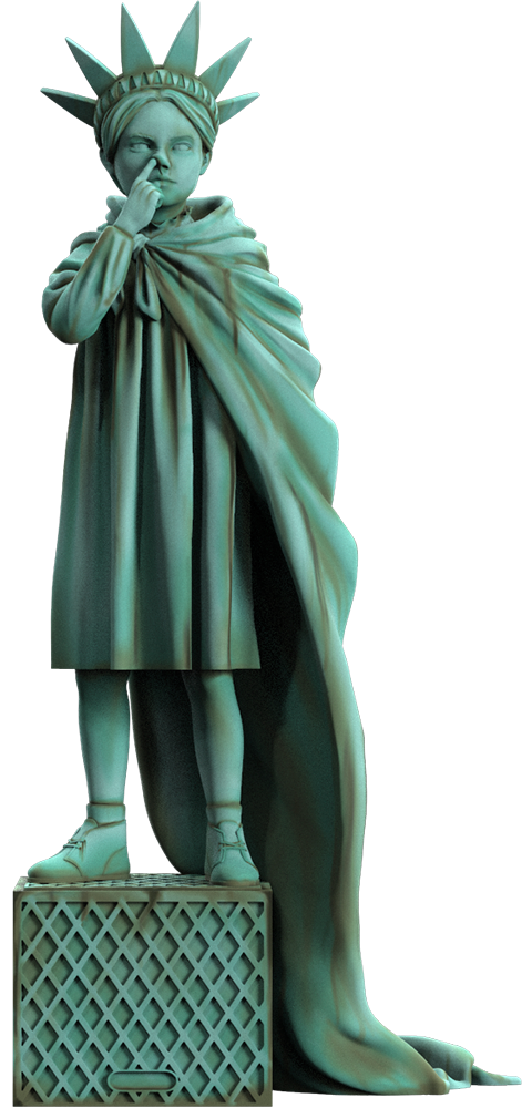 Mighty Jaxx Liberty Girl (Freedom Edition) Polystone Statue