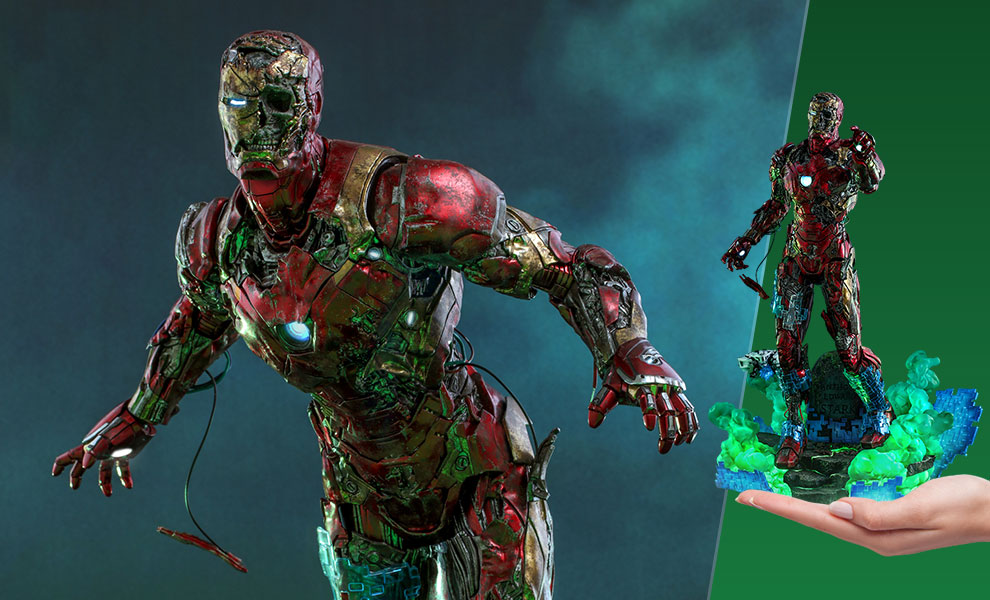 Gallery Feature Image of Mysterio's Iron Man Illusion Sixth Scale Figure - Click to open image gallery