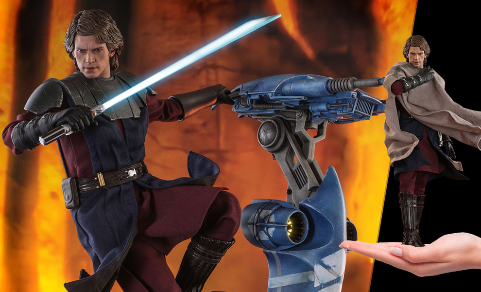 Gallery Feature Image of Anakin Skywalker and STAP (Special Edition) Sixth Scale Figure Set - Click to open image gallery