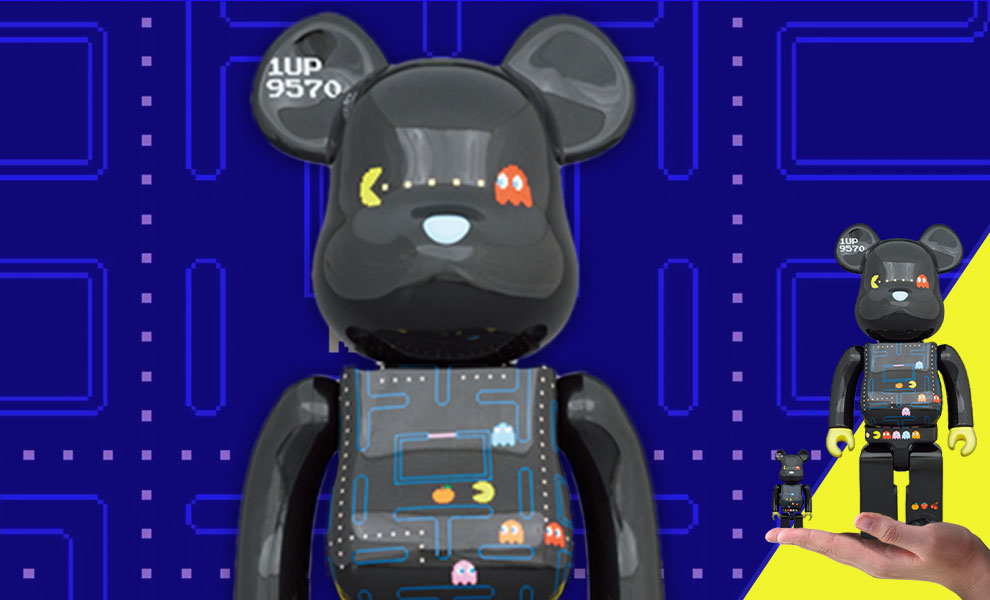 Gallery Feature Image of Be@rbrick Pac-Man 100% and 400% Collectible Set - Click to open image gallery