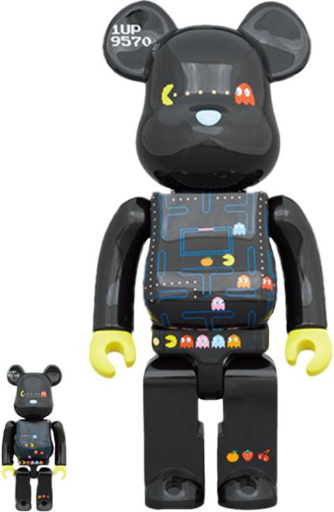 Medicom Toy Be@rbrick Pac-Man 100% and 400% Collectible Set