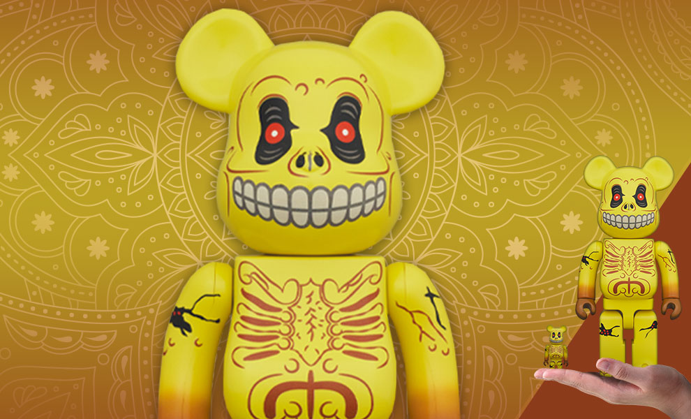 Gallery Feature Image of Be@rbrick Skull Face 100% and 400% Collectible Set - Click to open image gallery
