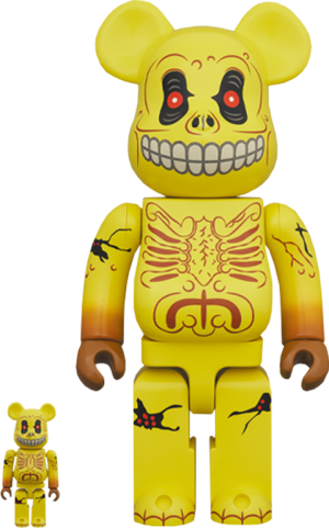 Be@rbrick Skull Face 100% and 400% Collectible Set