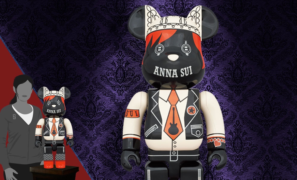 Gallery Feature Image of Be@rbrick Anna Sui Red & Beige 1000% Collectible Figure - Click to open image gallery